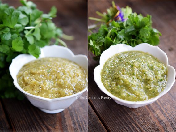 The finished Salsa Verde Recipe