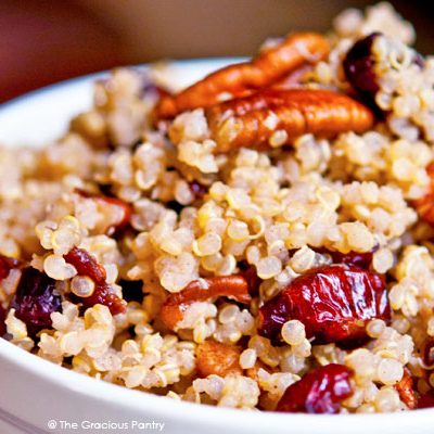 Clean Eating Cranberry Pecan Quinoa Recipe