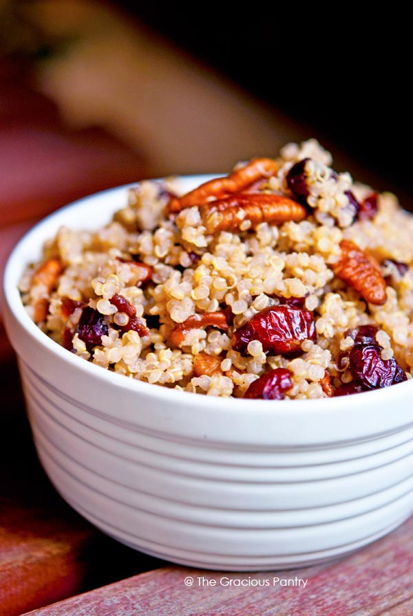 Clean Eating Cranberry Pecan Quinoa Recipe