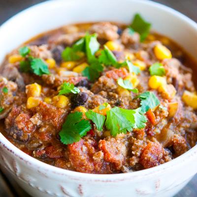 Clean Eating Southwestern Turkey Chili Recipe