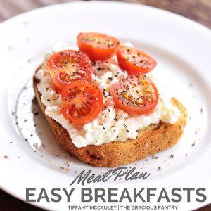 Easy Breakfasts Meal Plan