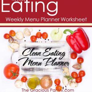 Clean Eating Meal Planner