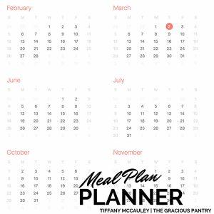 Meal Planner Worksheet