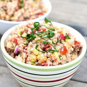 Clean Eating Italian Chickpea Quinoa Salad Recipe