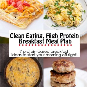 Clean Eating High Protein Breakfasts Meal Plan
