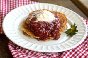 Clean Eating Chunky Strawberry Pancake Syrup Recipe