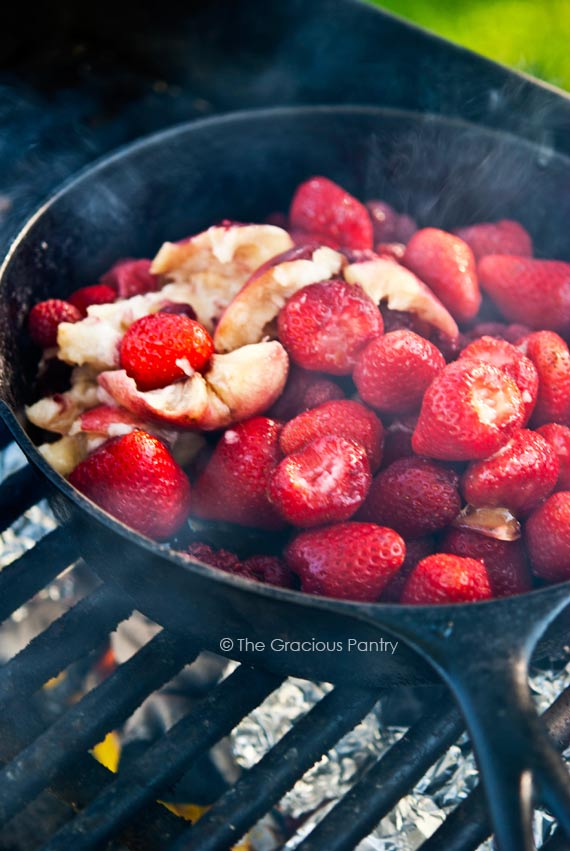 Clean Eating Barbecued Berries & Walnuts Skillet Recipe