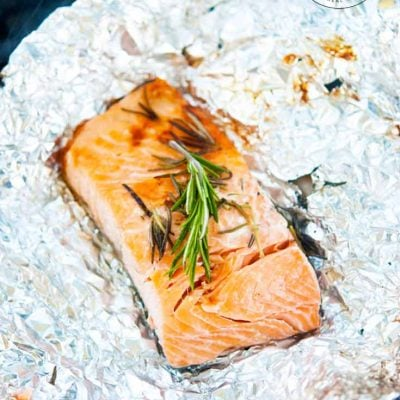 Clean Eating Hot Coal Roasted Garlic Rosemary Salmon Recipe