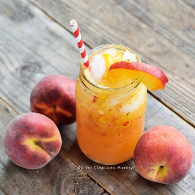 Clean Eating Georgia Peach Lemonade Recipe