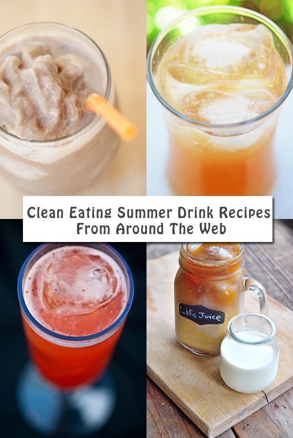 Clean Eating Thursday Recipe Linkup - Summer Drink Recipes