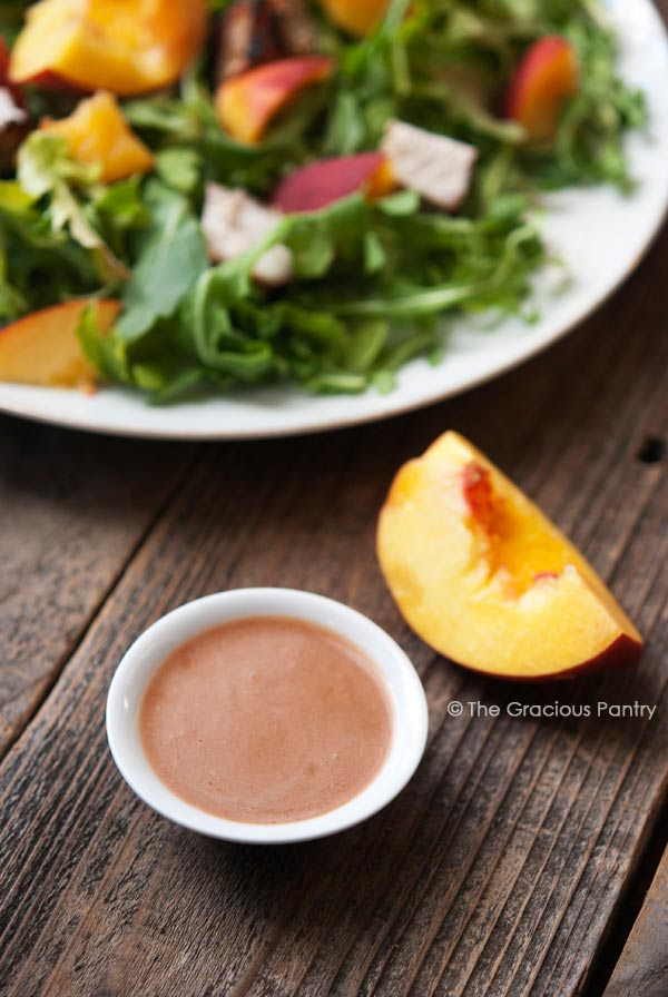 Clean Eating Peach Vinaigrette Recipe