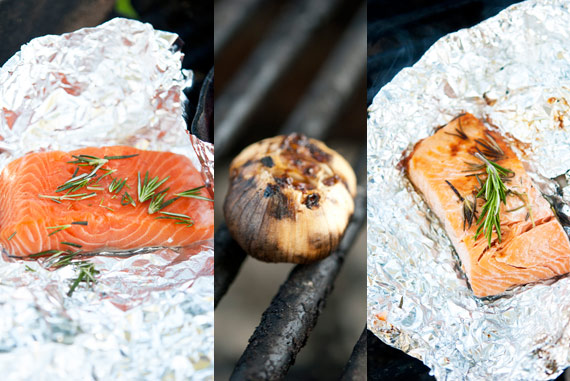 Clean Eating Hot Coal Roasted Garlic and Rosemary Salmon Recipe