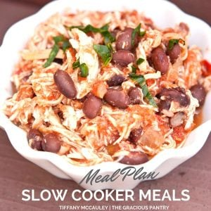 Slow Cooker Meal Plan 1