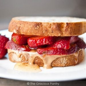 Clean Eating Fruit And Nut Butter Sandwich Recipe