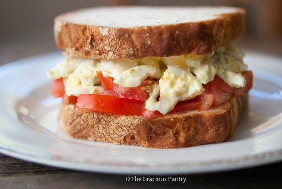 Clean Eating Egg Salad Sandwich Recipe