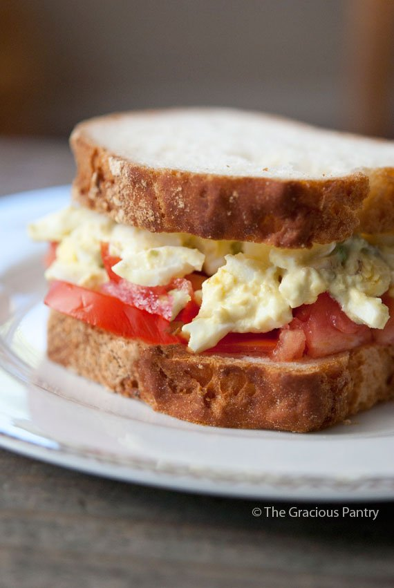 Clean Eating Egg Salad Sandwich Recipe