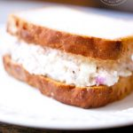 Tuna Fish Sandwich on whole wheat bread