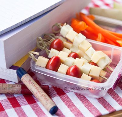 Clean Eating Apple & Smoked Gouda Lunchbox Kebobs Recipe