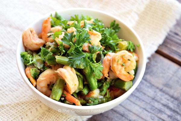 Clean Eating Shrimp And Asparagus Skillet Recipe