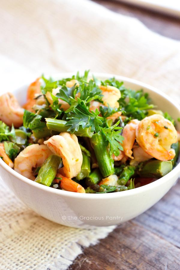Clean Eating Shrimp And Asparagus Skillet Recipe