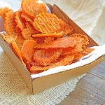 Clean Eating Twice Baked Sweet Potato Chips