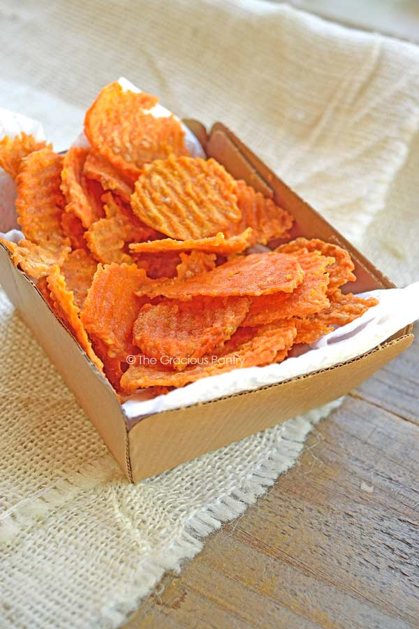 How To Make Sweet Potato Chips Twice Baked The Gracious Pantry