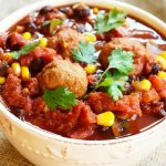 Clean Eating Slow Cooker Meatball Chili Recipe