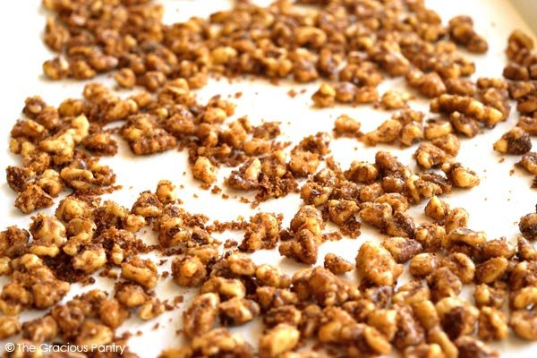 Clean Eating Candied Pumpkin Spice Walnuts