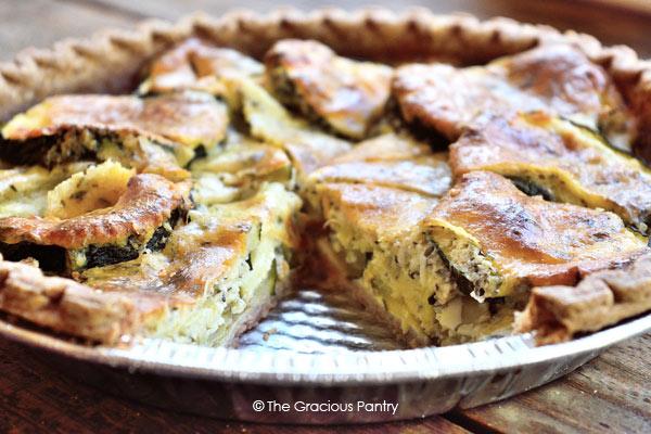 Clean Eating Zucchini Pie Recipe