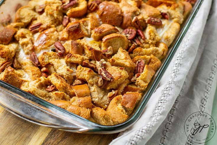 The finished Pumpkin Spice French Toast Casserole Recipe