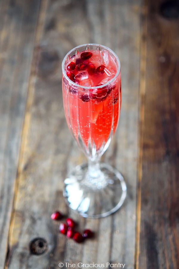 Clean Eating Cranberry Pomegranate Sparklers Recipe