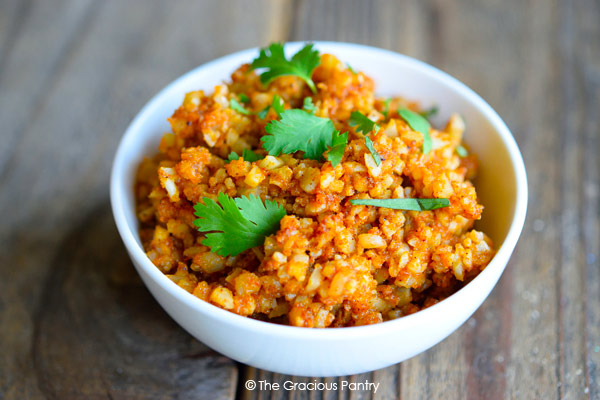 Clean Eating Mexican Cauli-Rice Recipe Ready To Eat