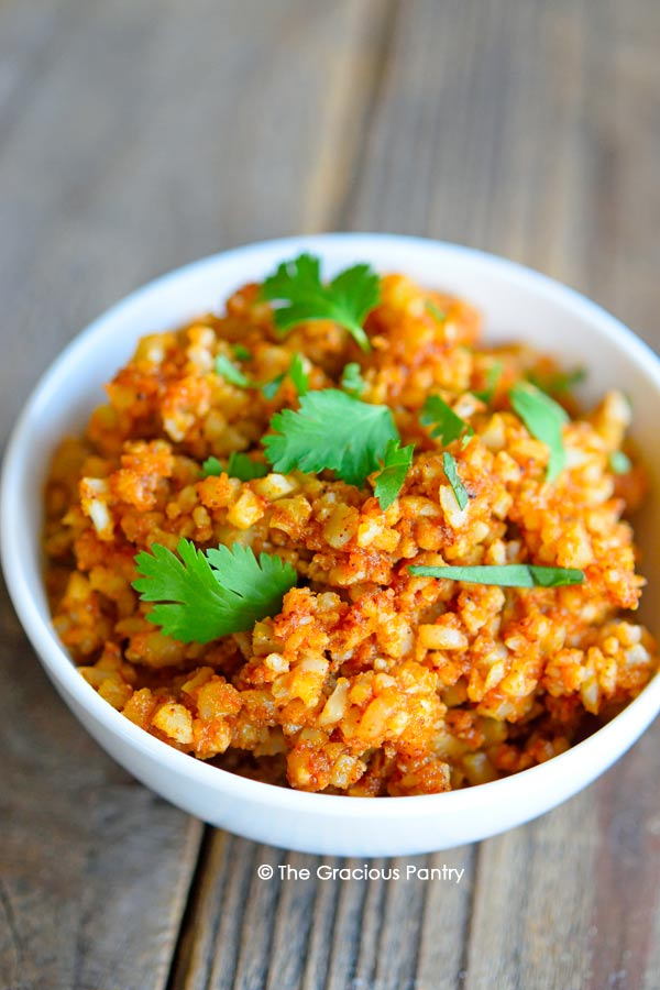 Clean Eating Spanish Cauli-Rice Recipe