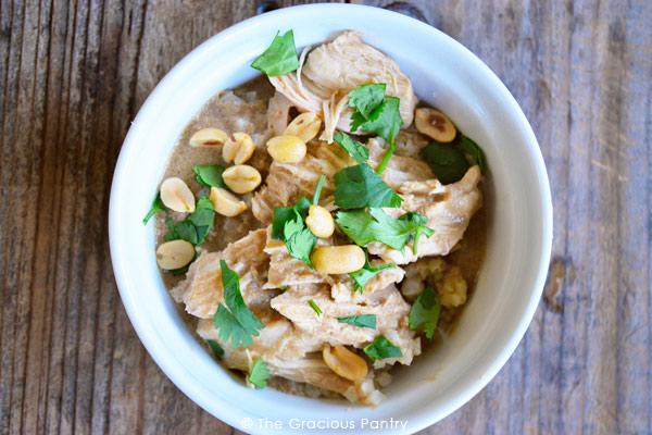 Clean Eating Thai Peanut Chicken Recipe