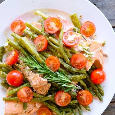Clean Eating Pressure Cooker Mediterranean Rosemary Salmon Recipe
