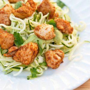 Clean Eating Taco Chicken Zucchini Pasta Recipe