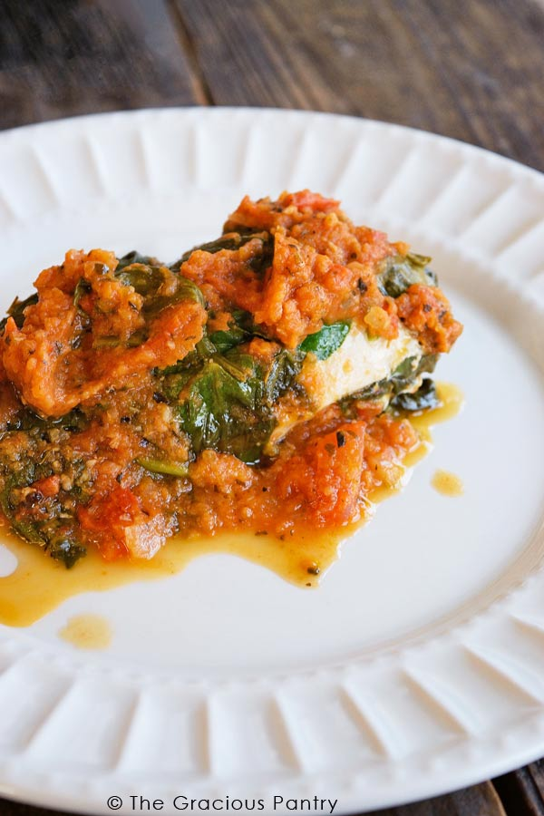 Clean Eating Pressure Cooker (Instant Pot) Spinach Chicken Recipe