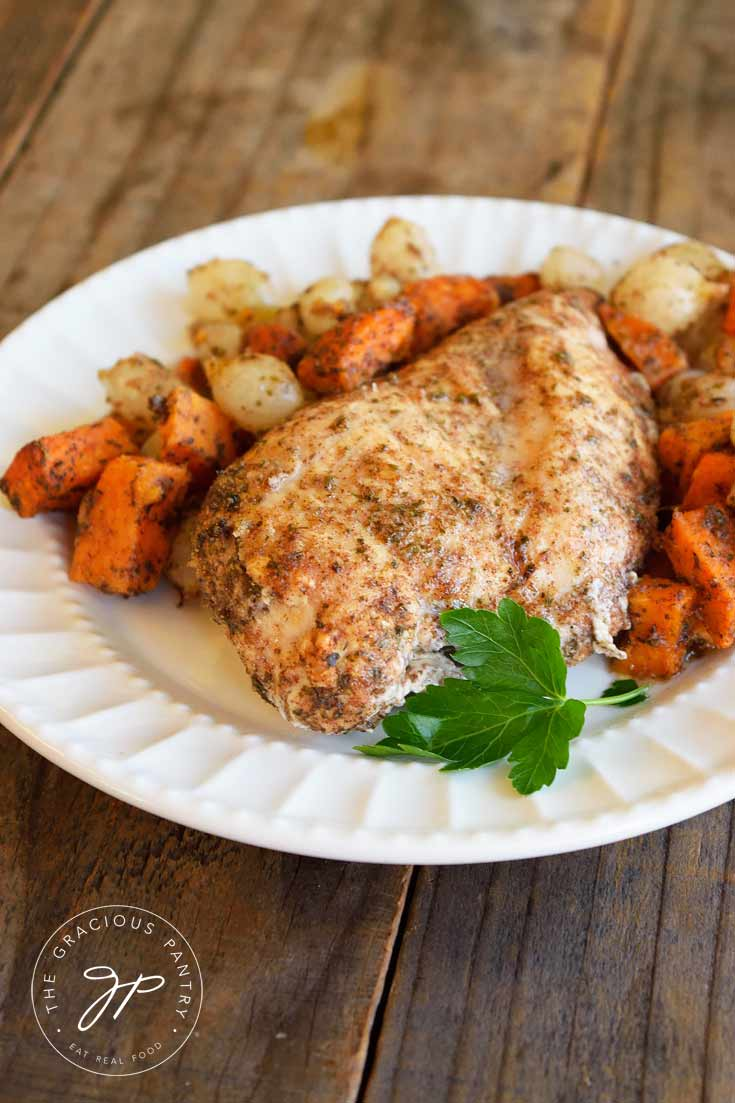 Clean Eating Chicken And Sweet Potatoes Sheet Pan Dinner Recipe