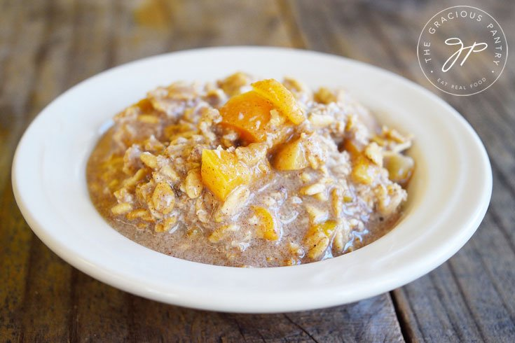 Clean Eating Apricot Muffin Oatmeal Recipe