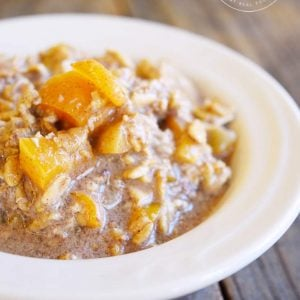 Clean Eating Apricot Muffin Overnight Oatmeal Recipe