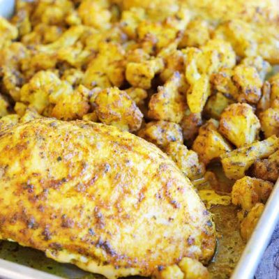 Clean Eating Sheet Pan Roasted Chicken And Cauliflower Recipe