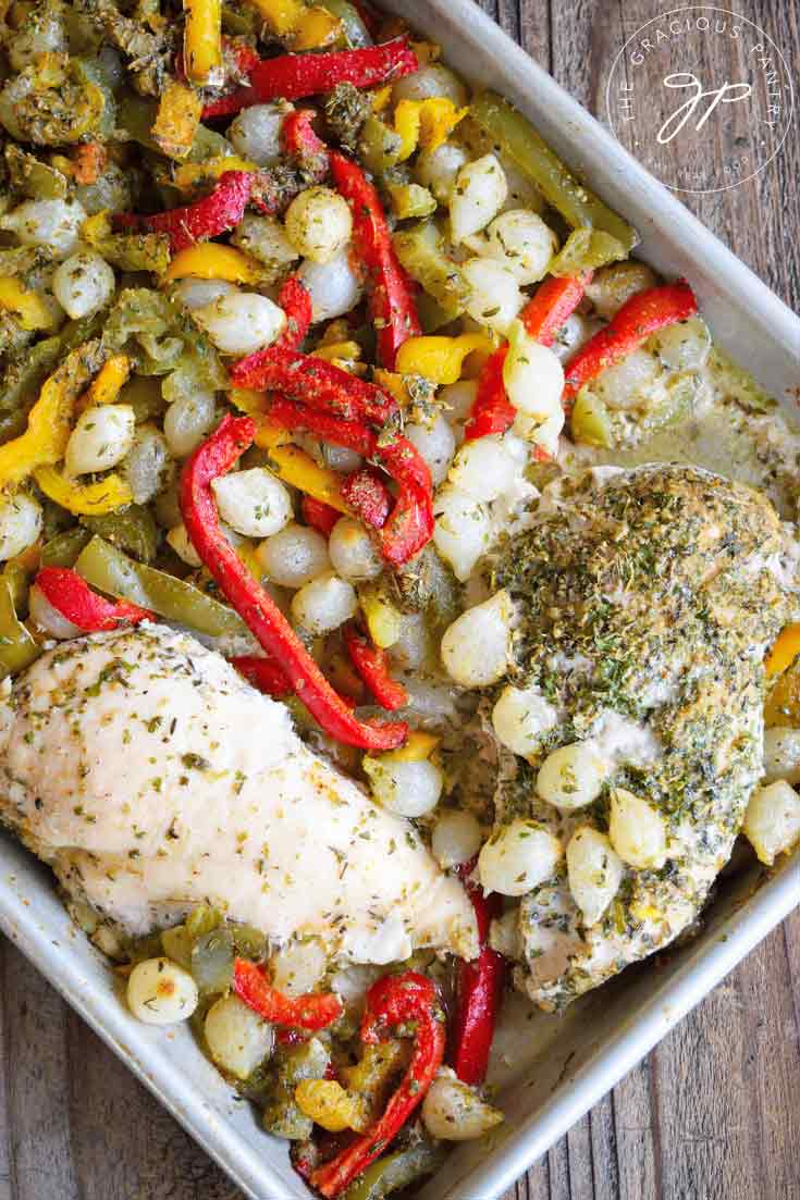 Clean Eating Chicken And Peppers Sheet Pan Dinner Recipe