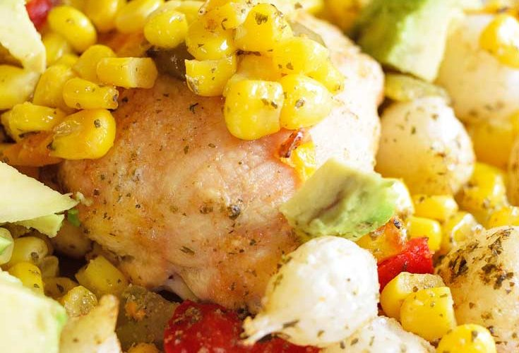 Clean Eating Sheet Pan Mexican Chicken Dinner Recipe