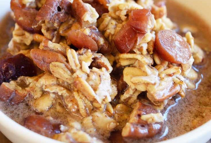 Clean Eating Cranberry Pecan Overnight Oatmeal Recipe