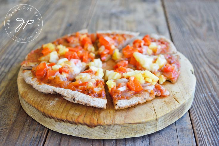 Clean Eating Onion Pepper And Pineapple Pizza Recipe