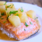 Clean Eating Sheet Pan Hawaiian Salmon Recipe
