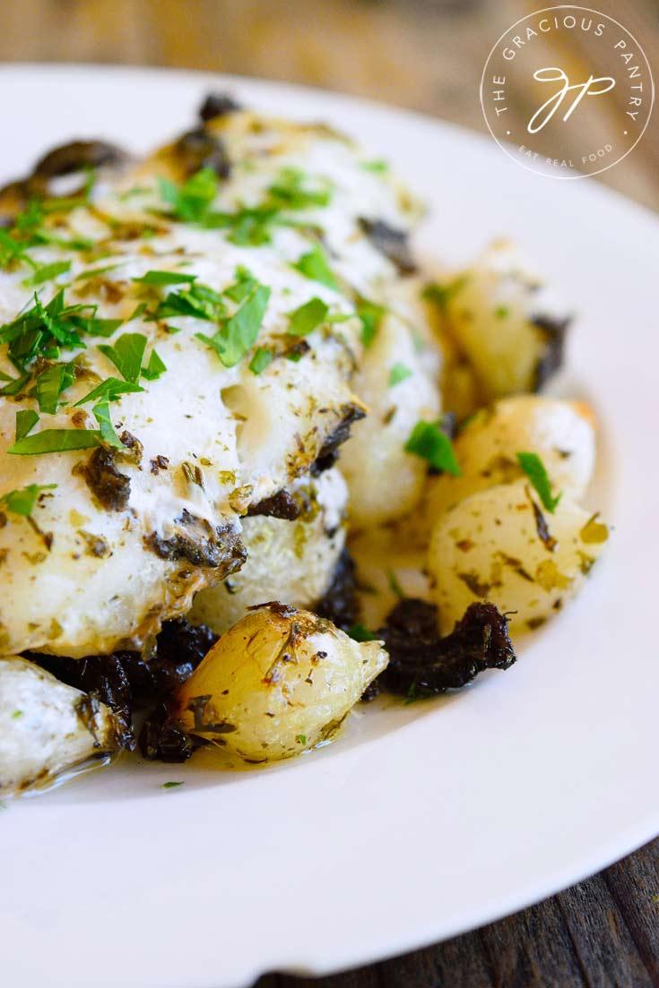 Clean Eating Sheet Pan Mushroom And Onion Cod Recipe