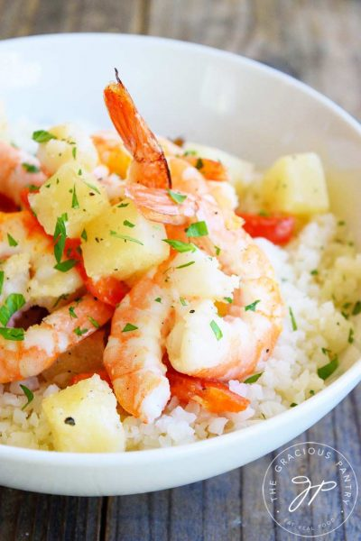 Clean Eating Sheet Pan Pineapple Shrimp Recipe