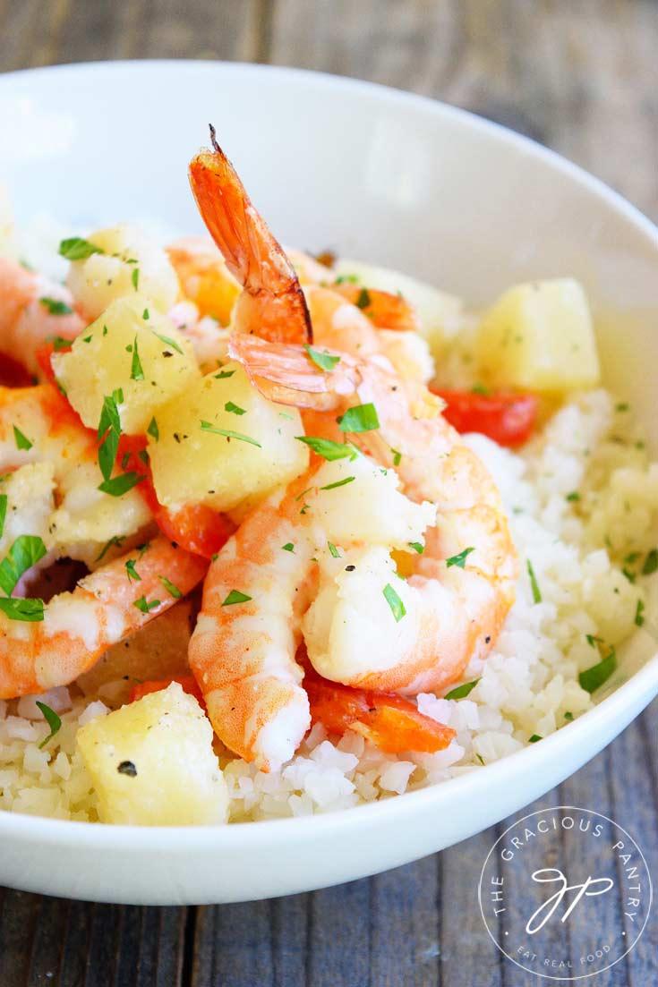 Clean Eating Sheet Pan Pineapple Shrimp Recipe