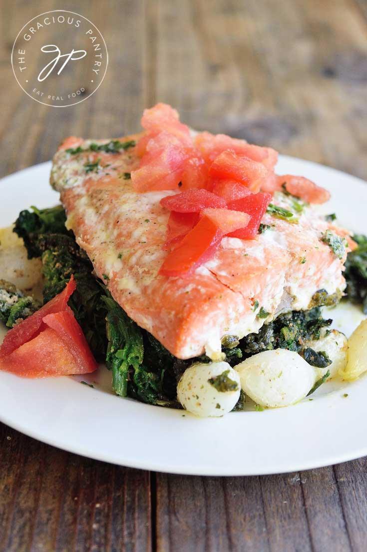 Sheet Pan Salmon Florentine Recipe